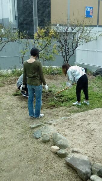 リフレッシュに庭の環境整備